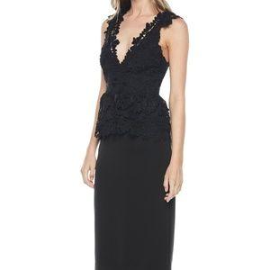 Bardot Valencia Peplum Lace Cocktail Dress NEW